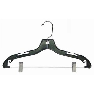Black Plastic Combination Hanger w/ Clips