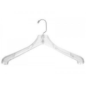 Heavyweight Clear Plastic Coat Hanger