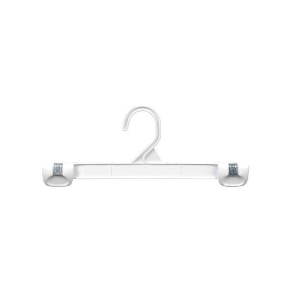 white plastic snap grip pantskirt hanger